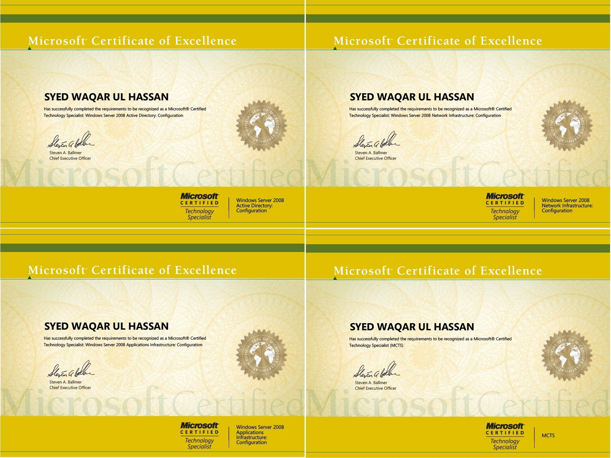 Microsoft Certified Technology Specialist Mcts 4151141