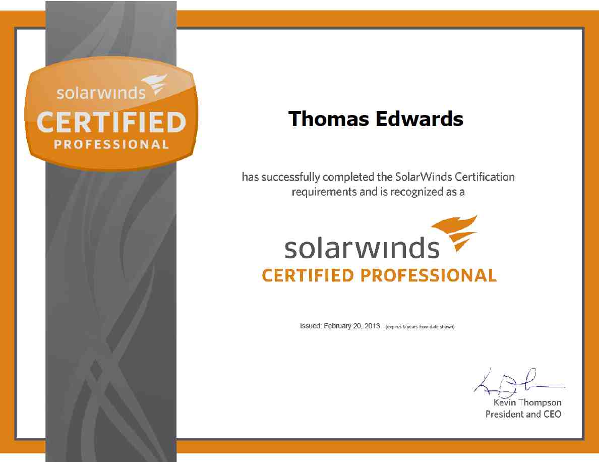 Thomas edwards bayt solarwinds certified professional certificate xflitez Image collections