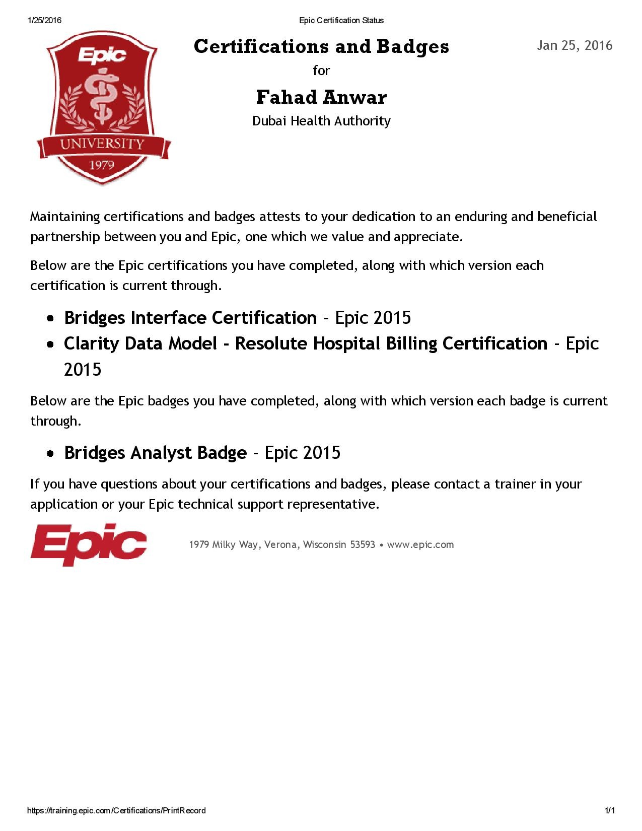 Luxury pictures of epic certification training business cards fahad anwar bayt 1betcityfo Images