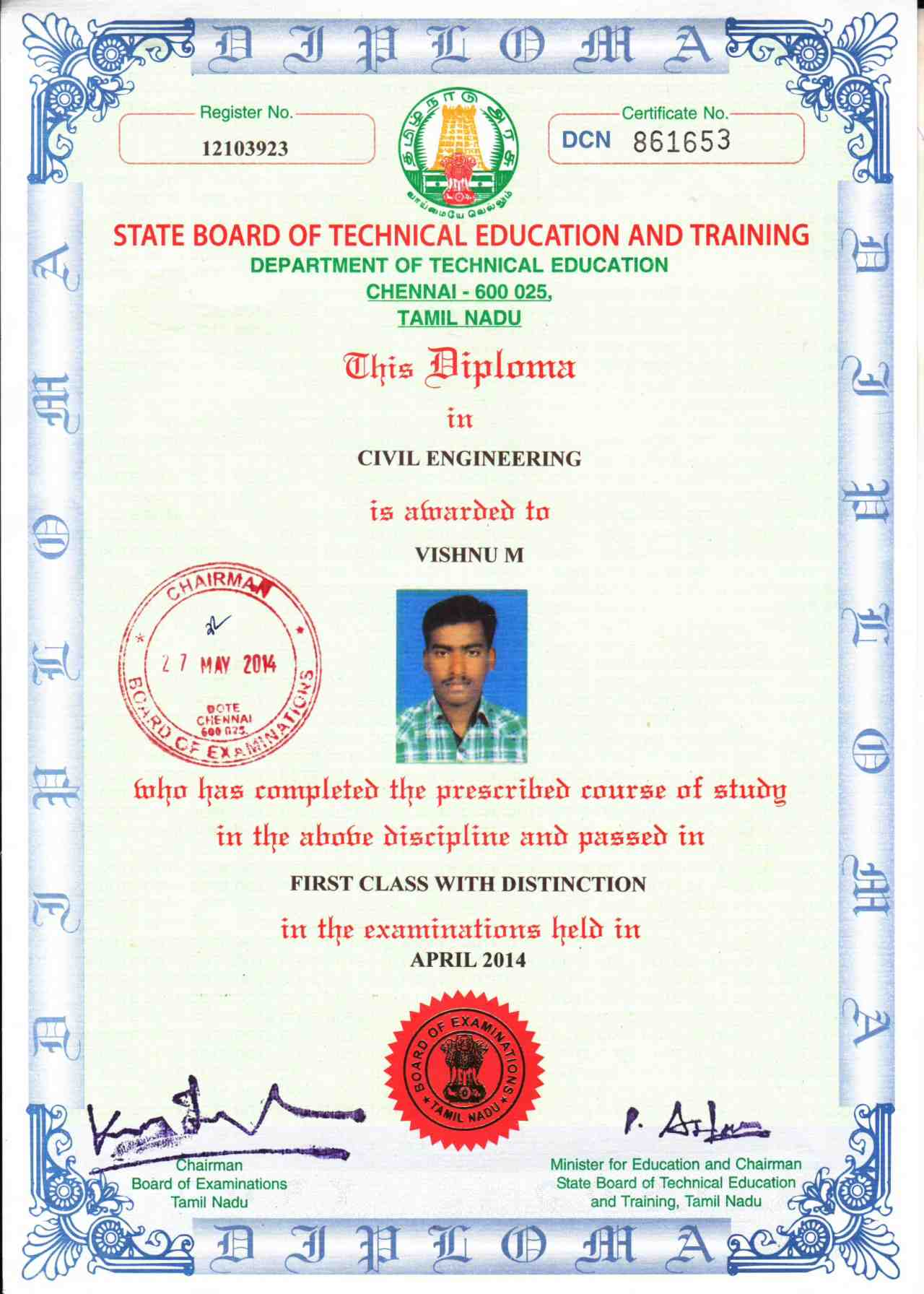 Vishnu mohanan bayt certification in 3d modeling animation revit architecture undergone training in hse management system and awareness programme conducted by sdt 1betcityfo Choice Image