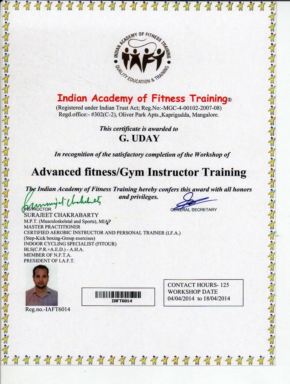Aerobics Instructor Certification Free Professional Resume