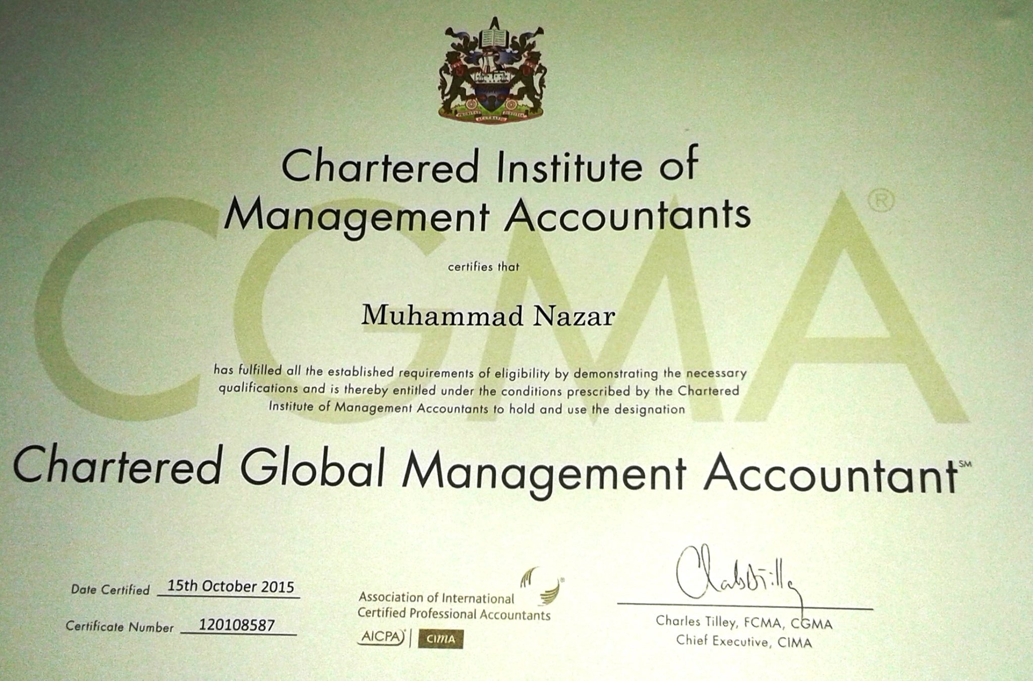 Muhammad nazar bayt chartered global management accountant certificate xflitez Images