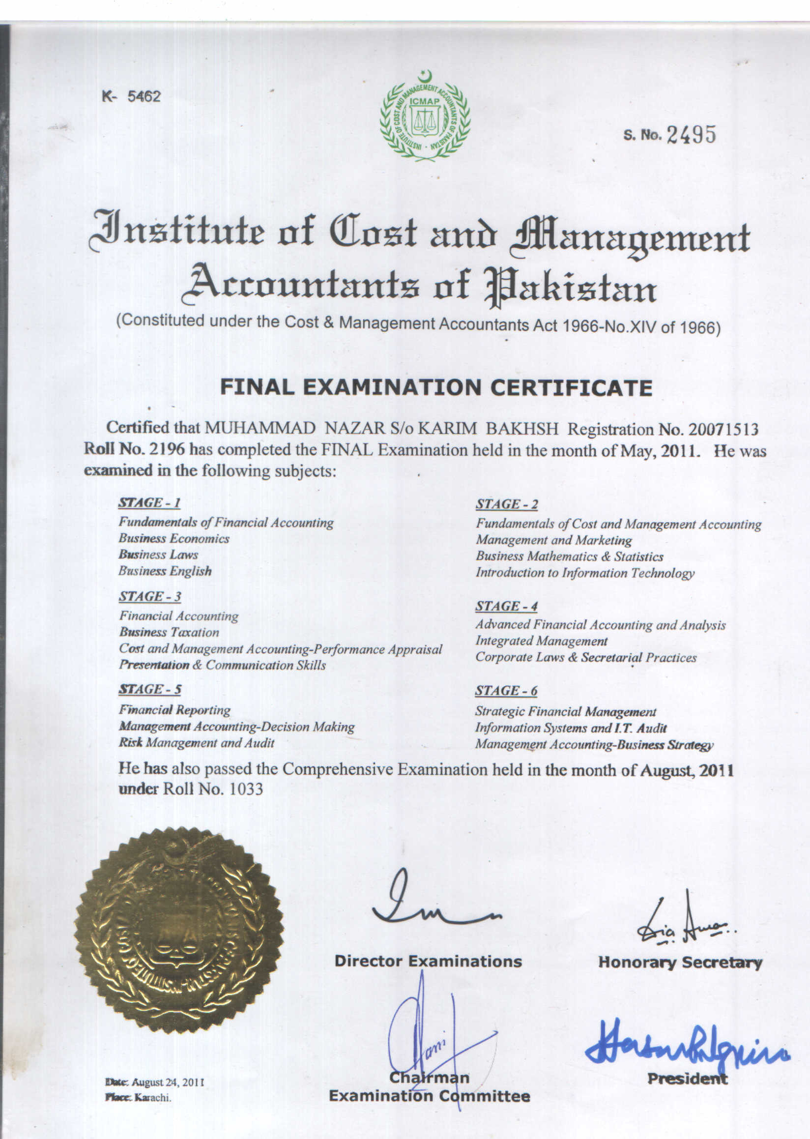 Muhammad nazar bayt certified management accountant certificate xflitez Images