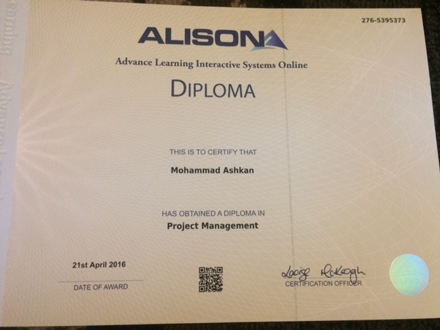 mohammad ashkan bayt com diploma project management
