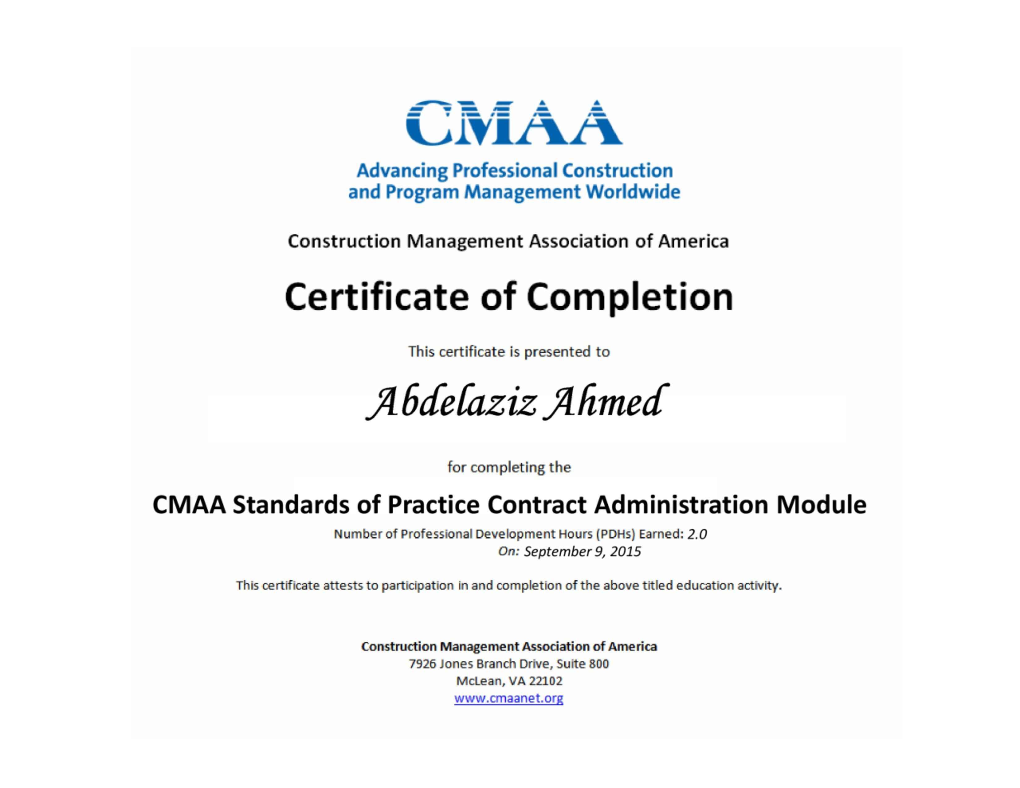 Dorable Cmaa Certification Coleccin Para La Aplicacin De Acta De