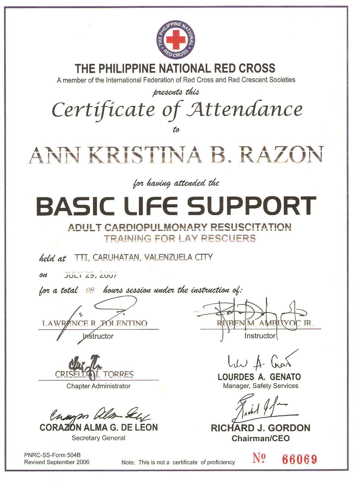 Ann kristina arenas bayt training institute philippine red cross 1betcityfo Image collections