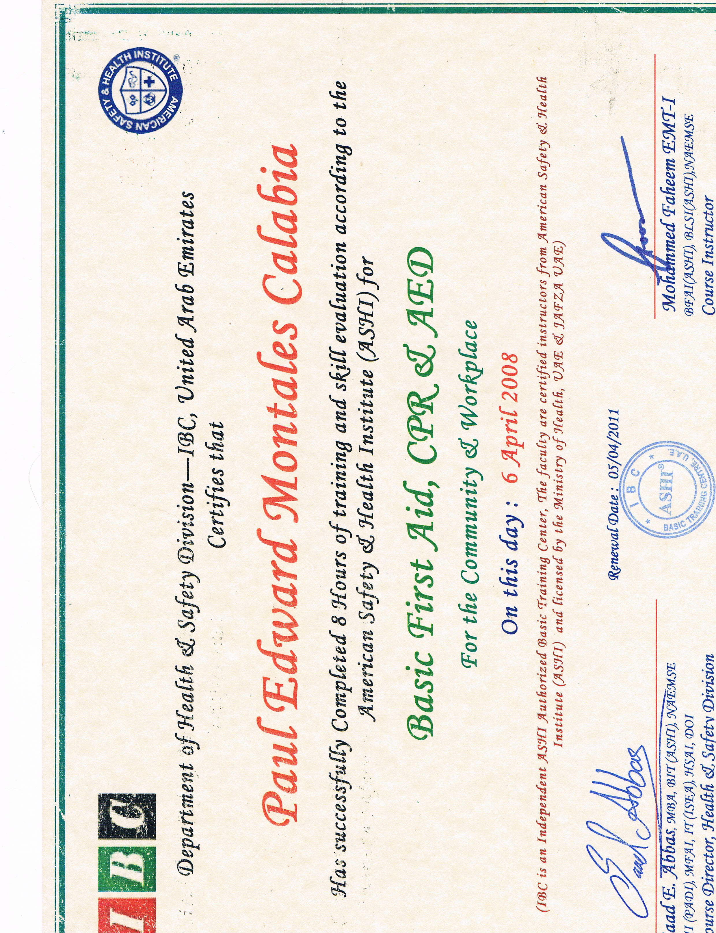 Paul edward calabia bayt training institute dubai institute of business management xflitez Image collections