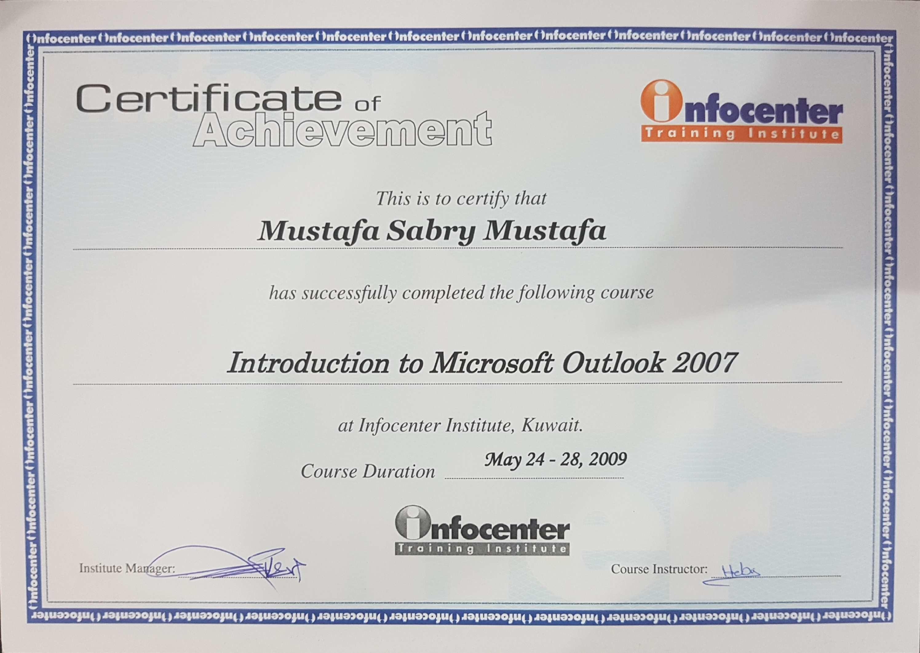 Mustafa okash bayt microsoft outlook certificate xflitez Choice Image