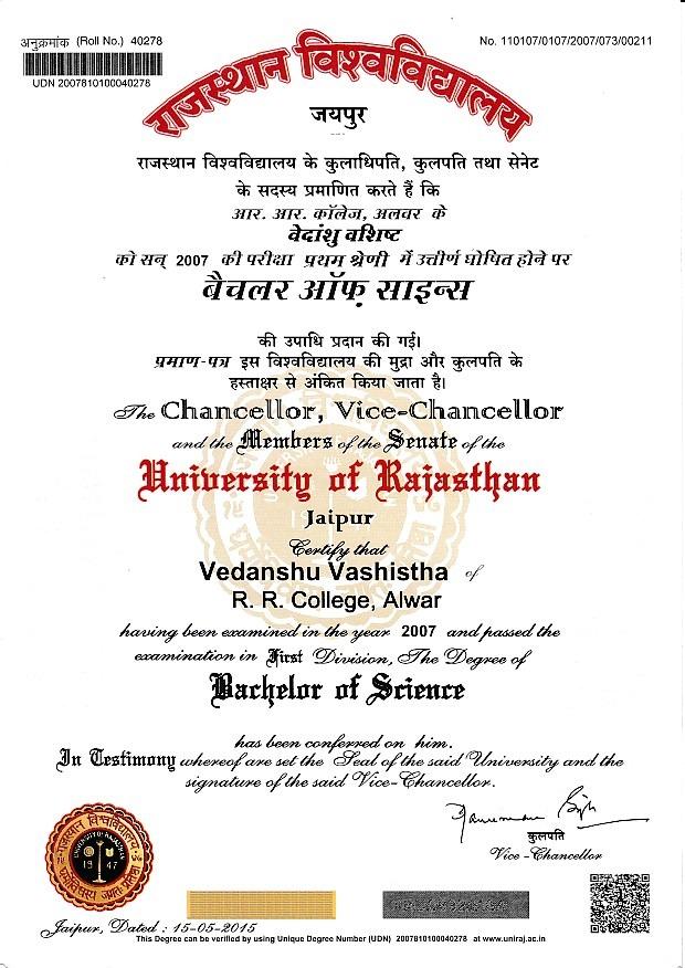 Vedanshu Vashistha - Bayt.com