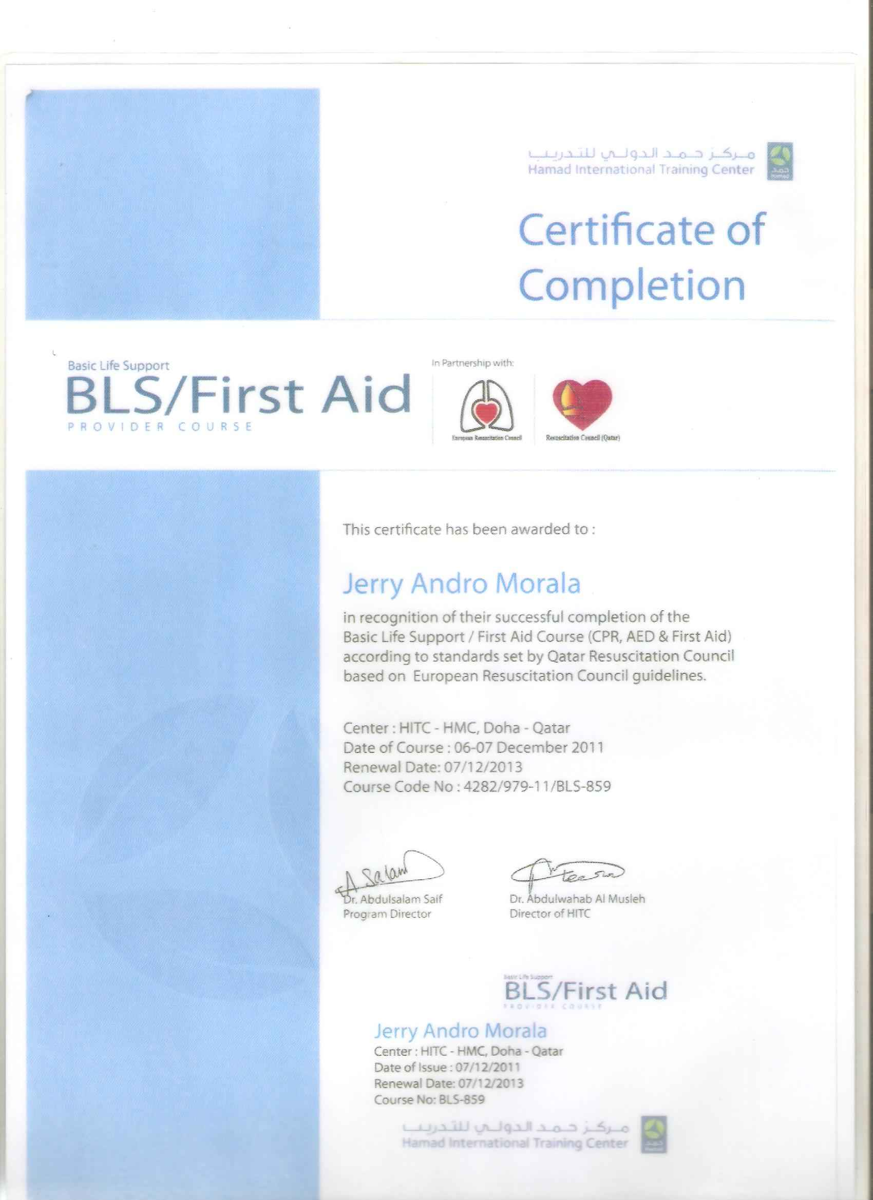 Basic Life Support BLS First Aid