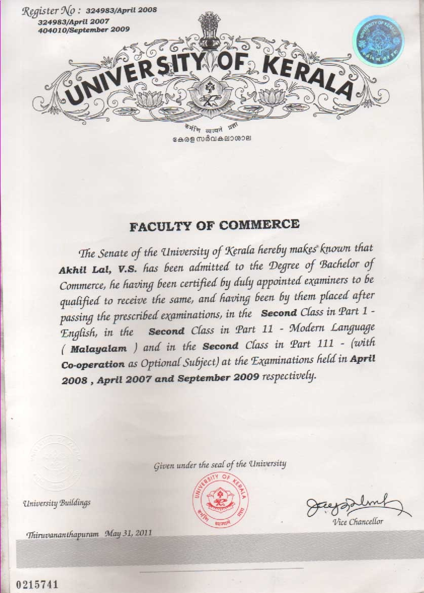 Stunning fake college transcripts template gallery professional kerala university degree certificate sample gallery certificate yadclub Image collections