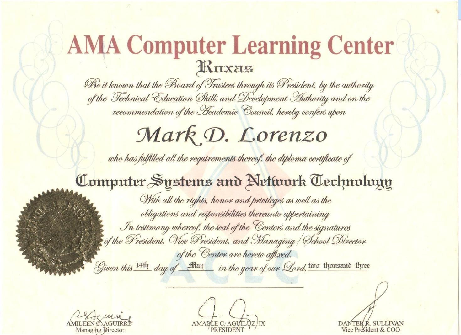 Mark delmo lorenzo bayt at ama computer college roxas xflitez Gallery
