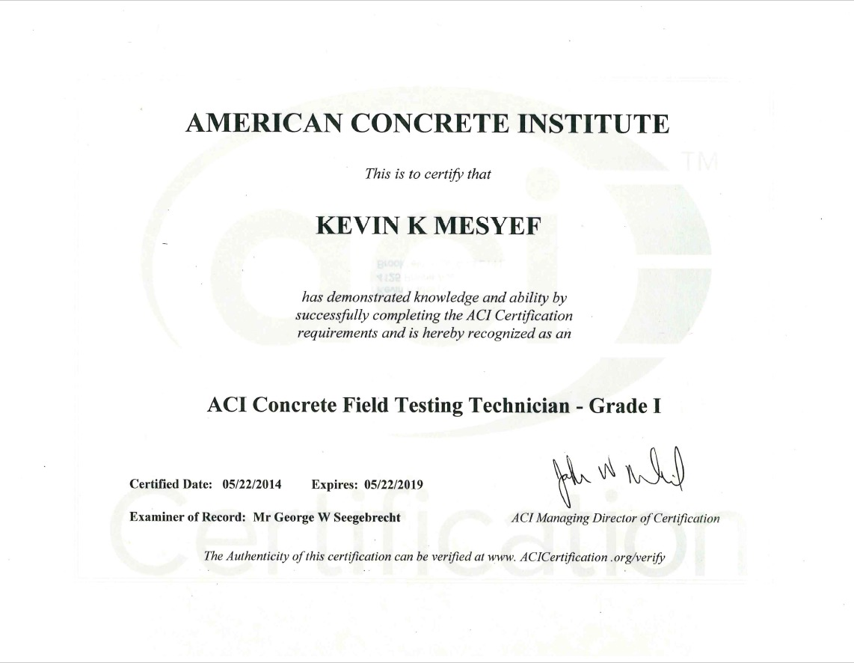 Kevin mesyef bayt training institute american concrete institute aci xflitez Images