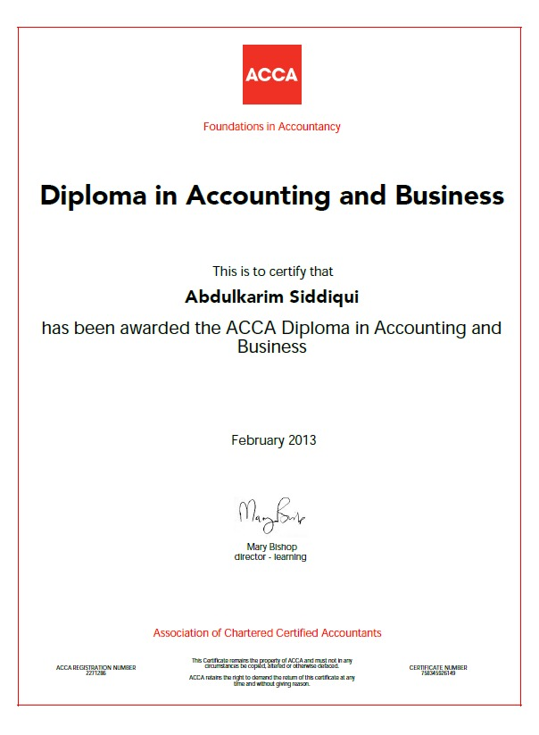 acca bsc thesis