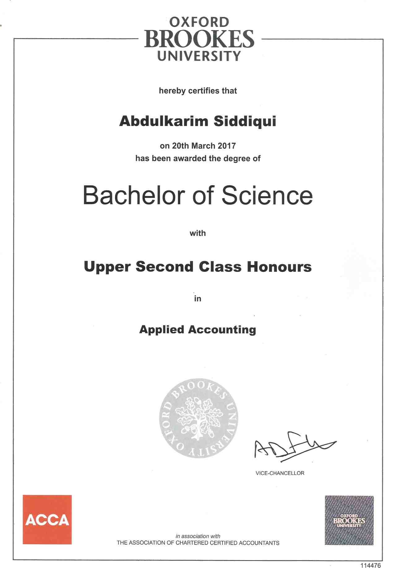 Abdulkarim siddiqui bayt i passed the research project with a grade a and awarded this degree with upper second class honours 1betcityfo Gallery