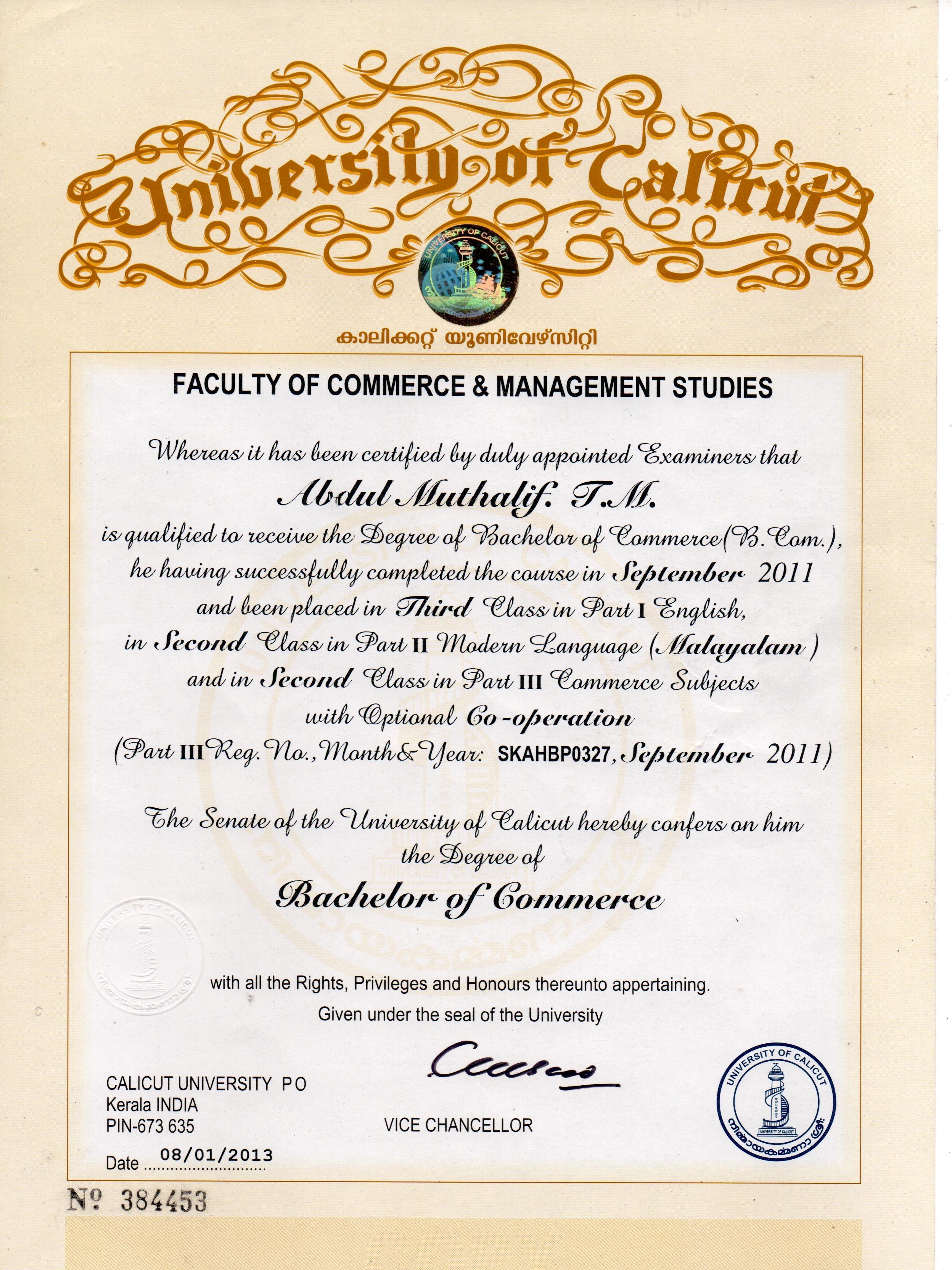 abdul muthalif t m bayt com at calicut university