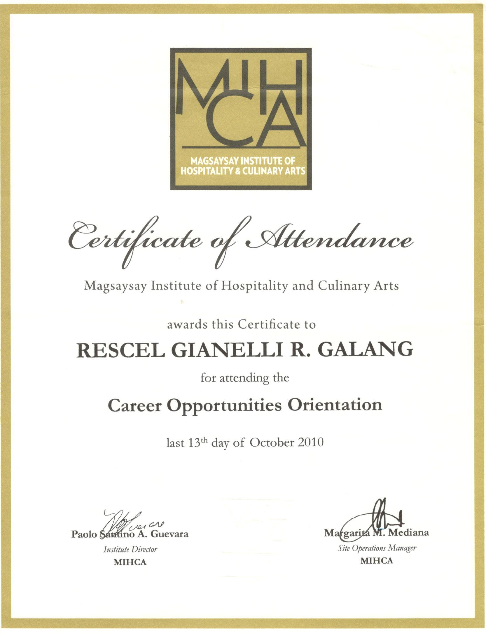 Rescel gianelli galang bayt career opportunities orientation micah certificate 1betcityfo Images