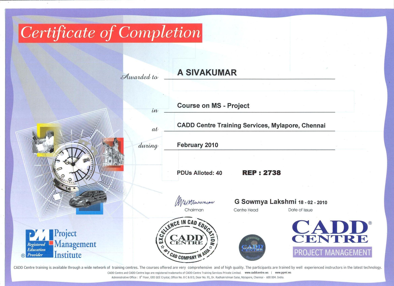 Sivakumar arumugaperumal bayt certificate program in ms project certificate 1betcityfo Choice Image
