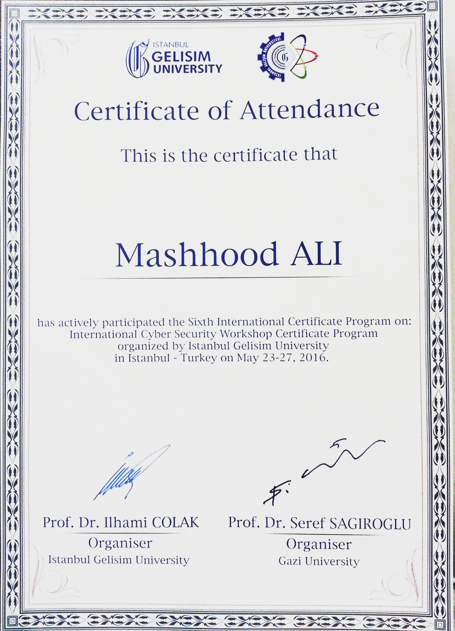Mashhood ali bayt training institute istanbul gelisim university xflitez Choice Image