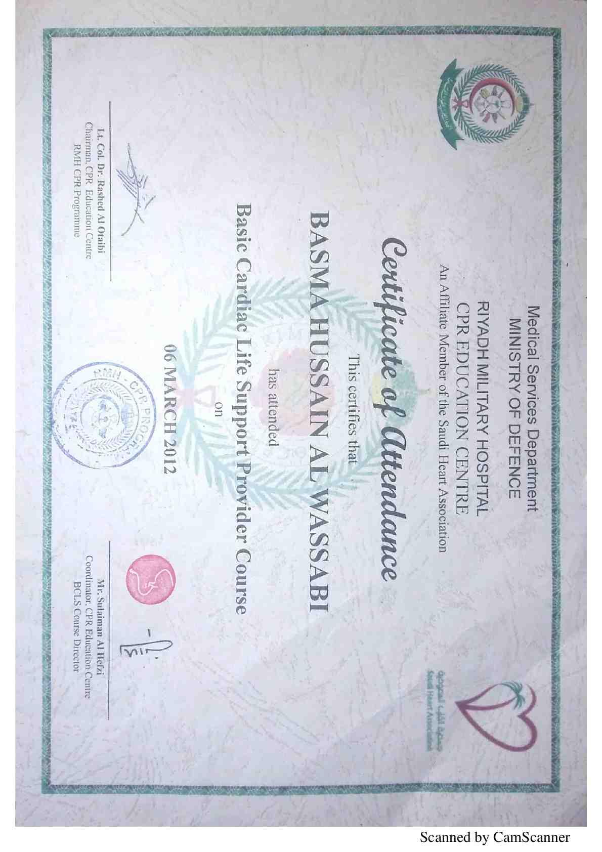 Bcls Certificate Best Design Sertificate 2018