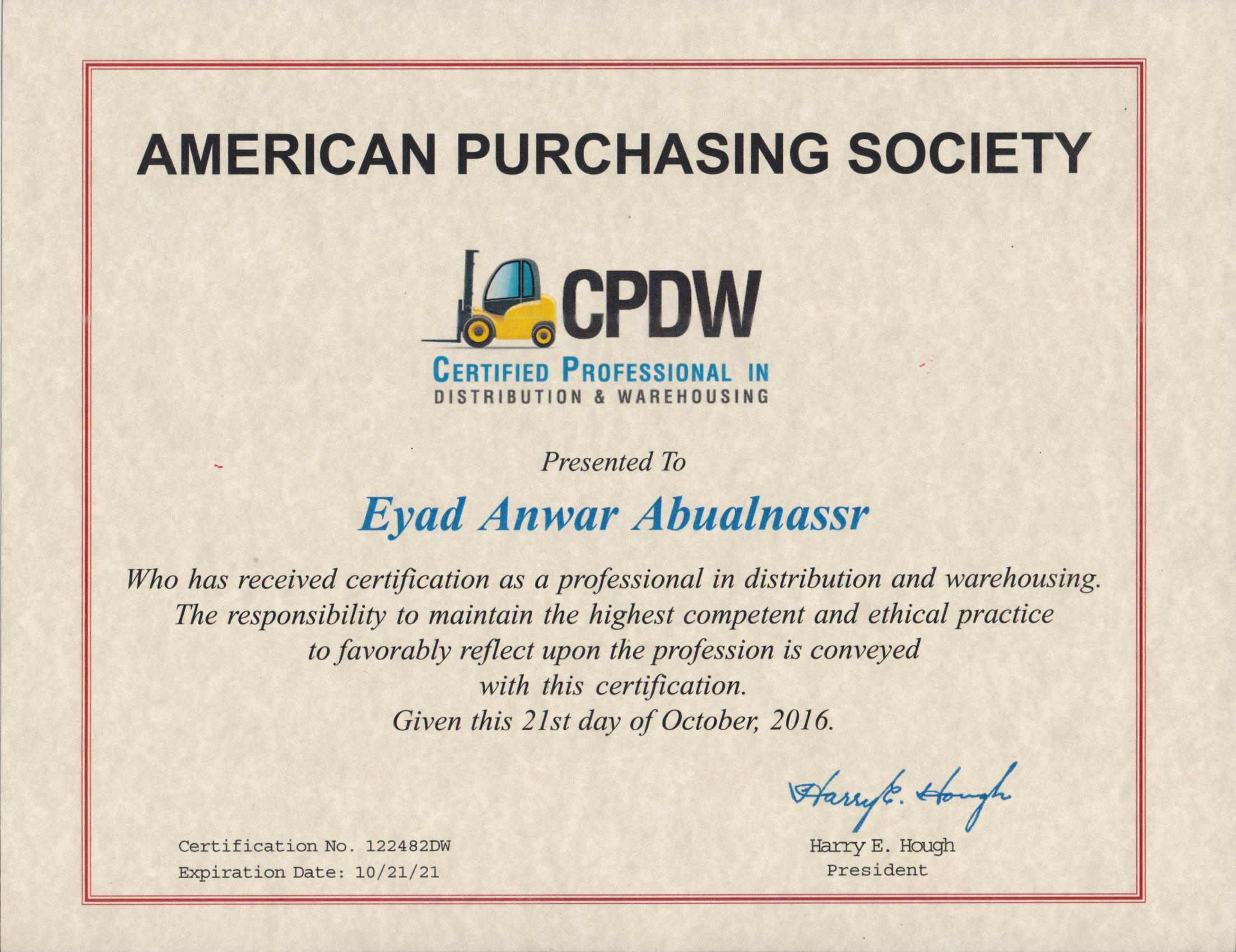 Eyad abualnassr bayt training institute american purchasing society xflitez Image collections