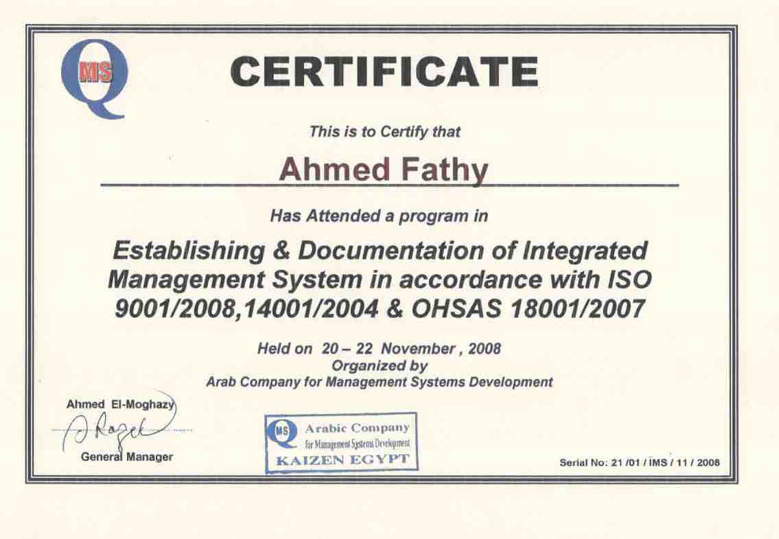 Ahmed fathi abdel salam saleh bayt training institute arab company for management system development 1betcityfo Gallery