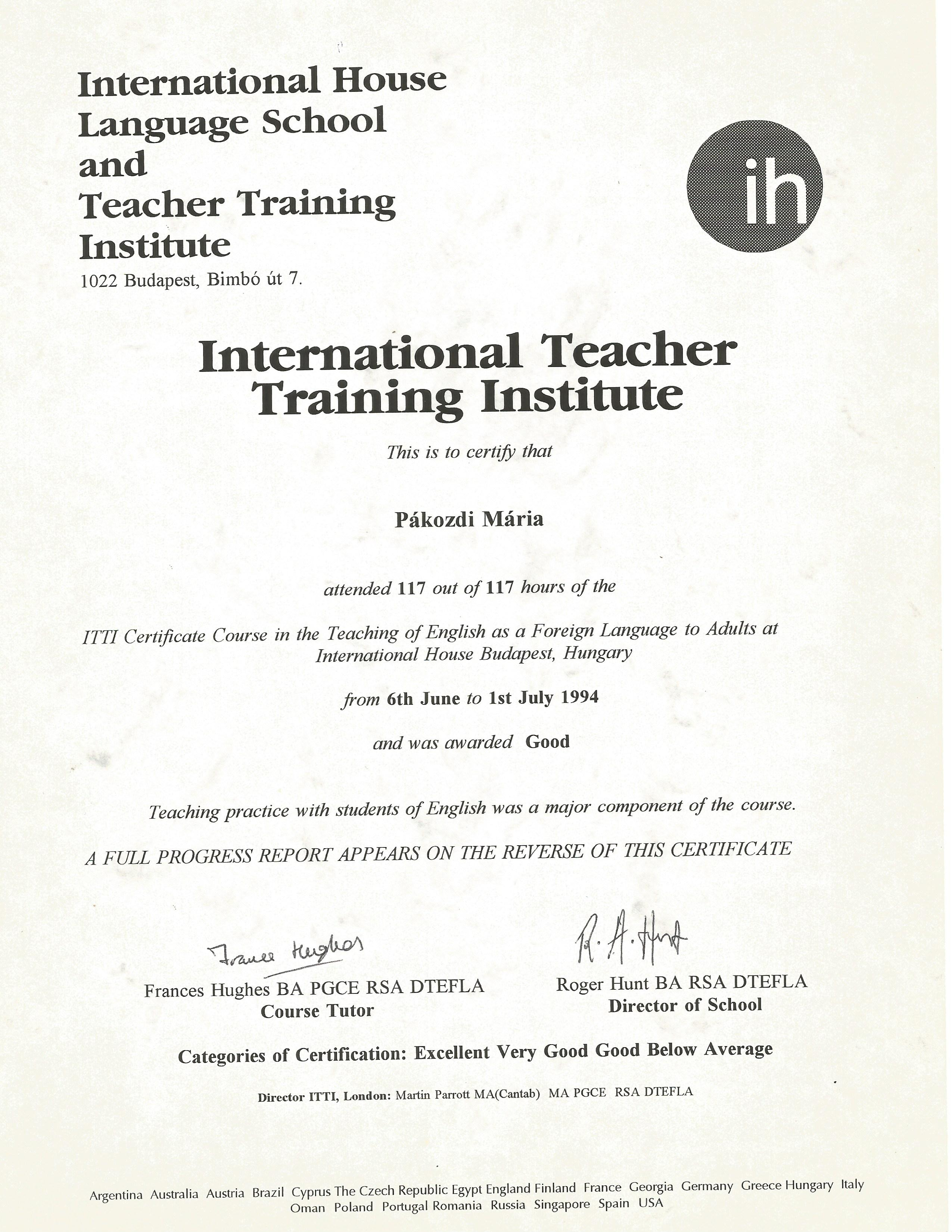 Maria pakozdi bayt itti certificate course in tefl equivalent to celta certificate 1betcityfo Images