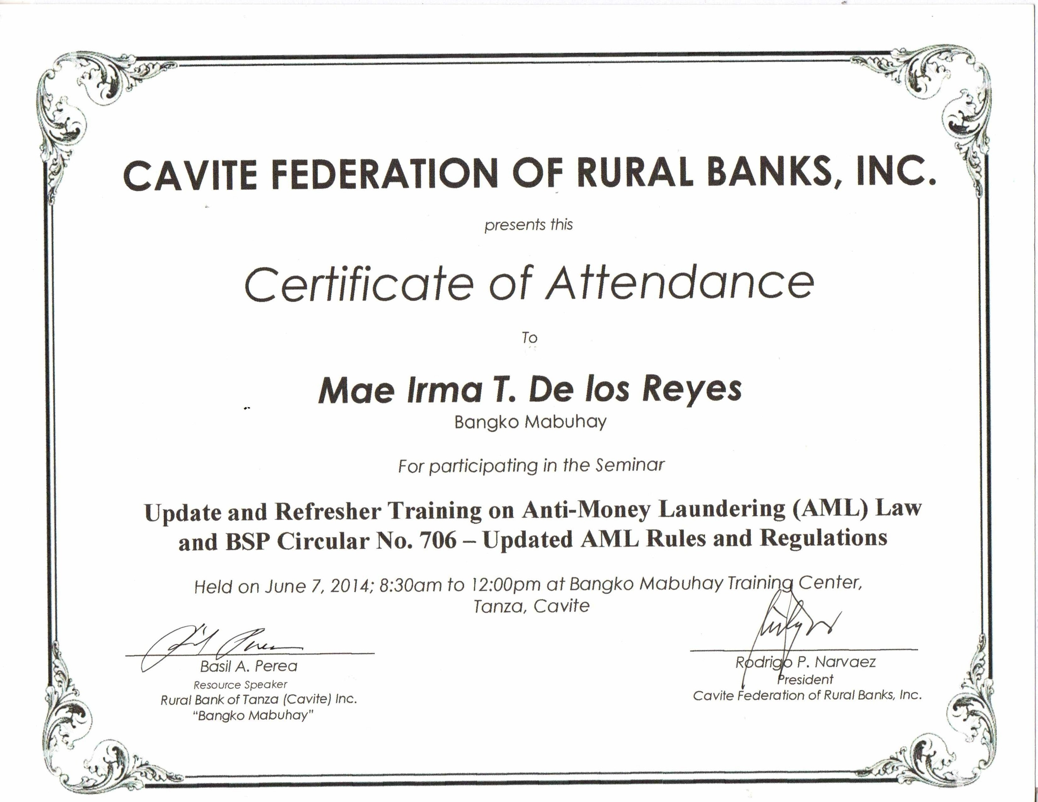Mae irma de los reyes bayt training institute cavite federation of rural bank 1betcityfo Choice Image