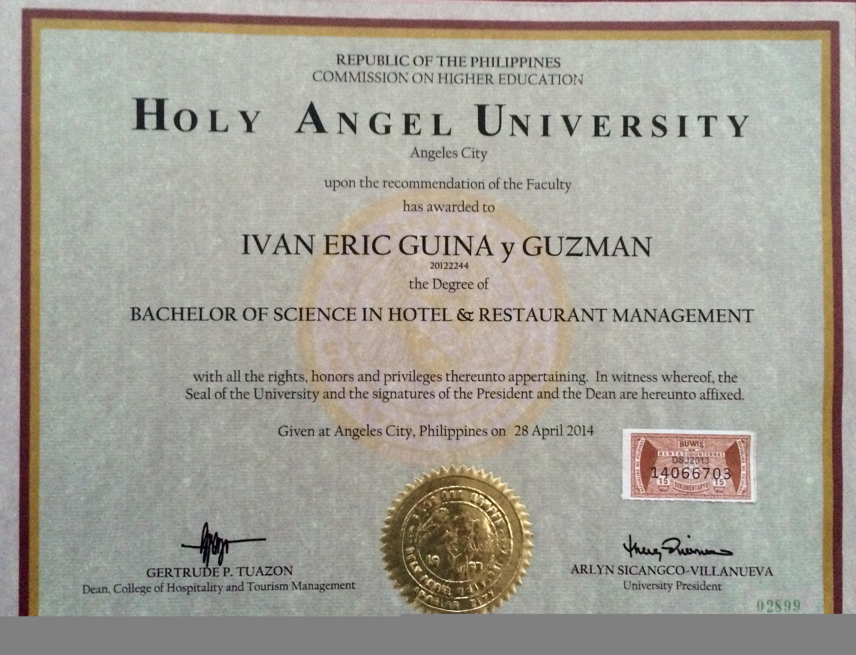 ivan eric guina bayt com at holy angel university