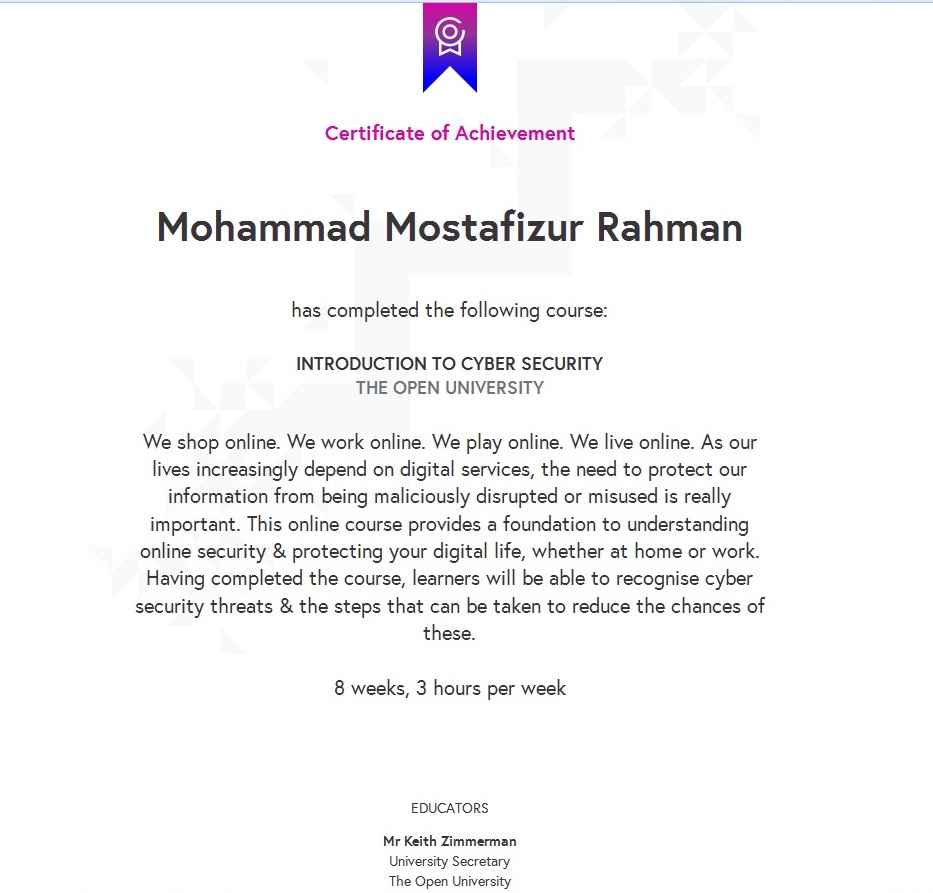 Contemporneo Cyber Security Certificate Inspiracin Para La