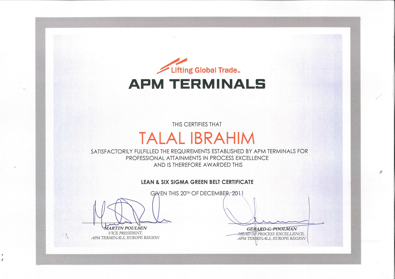 Talal ibrahim bayt ssgb six sigma green belt certification certificate xflitez Choice Image
