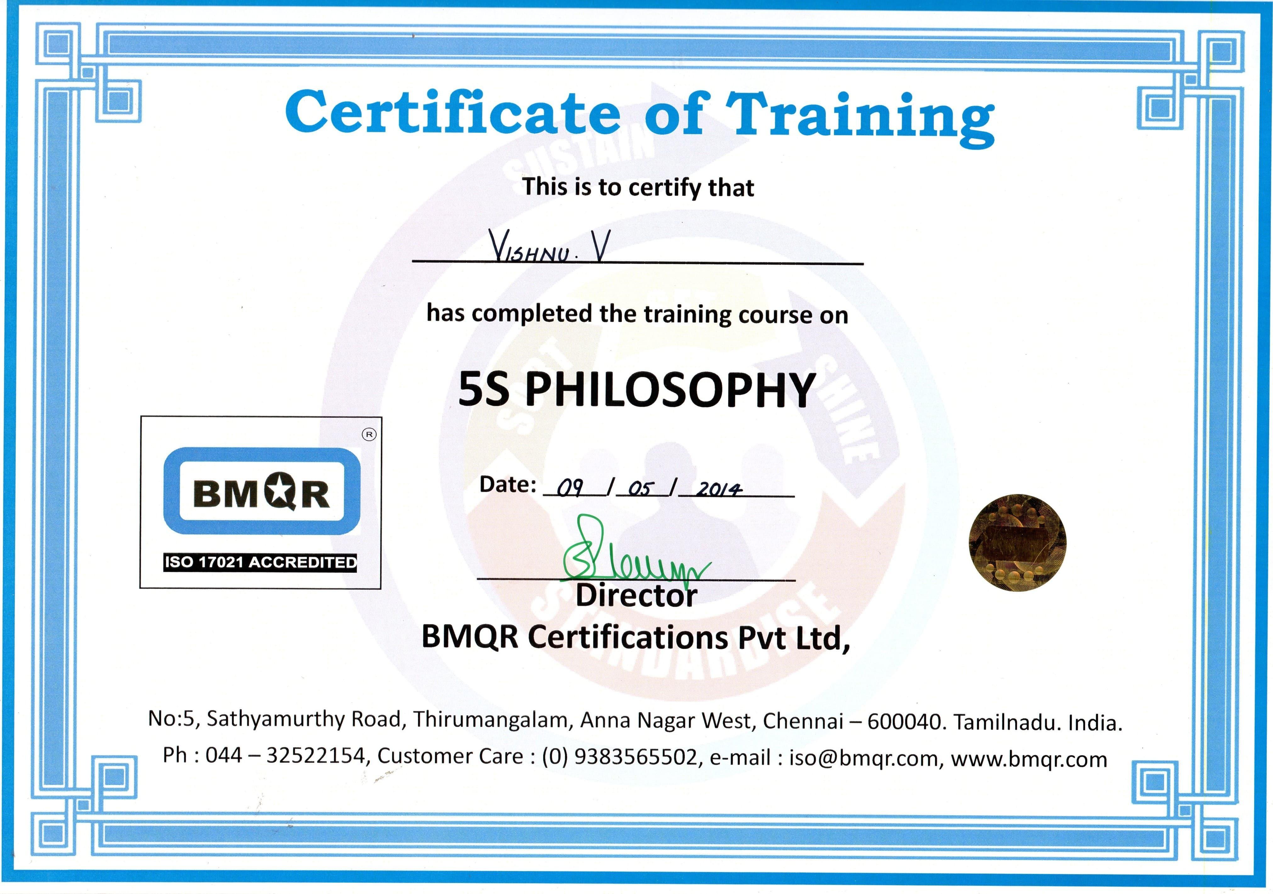 Six sigma green belt certification course in chennai software vishnu vijayan bayt com 1betcityfo Image collections