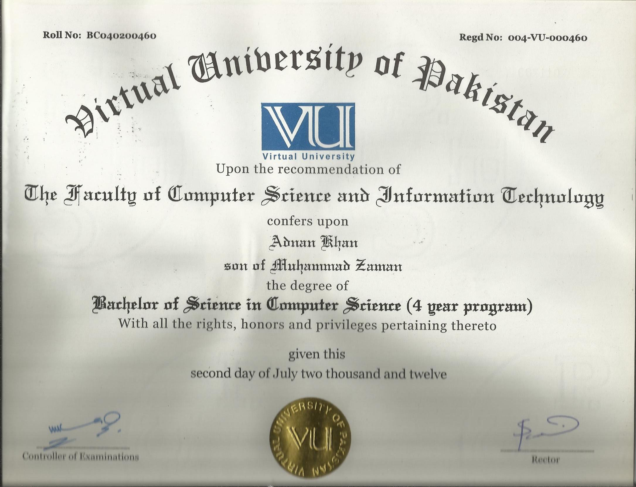 Adnan khan adnan khan bayt bcs 4 years 16 years master in computer sciences passing year 2012 with 55 marks from virtual university of pakistan xflitez Gallery