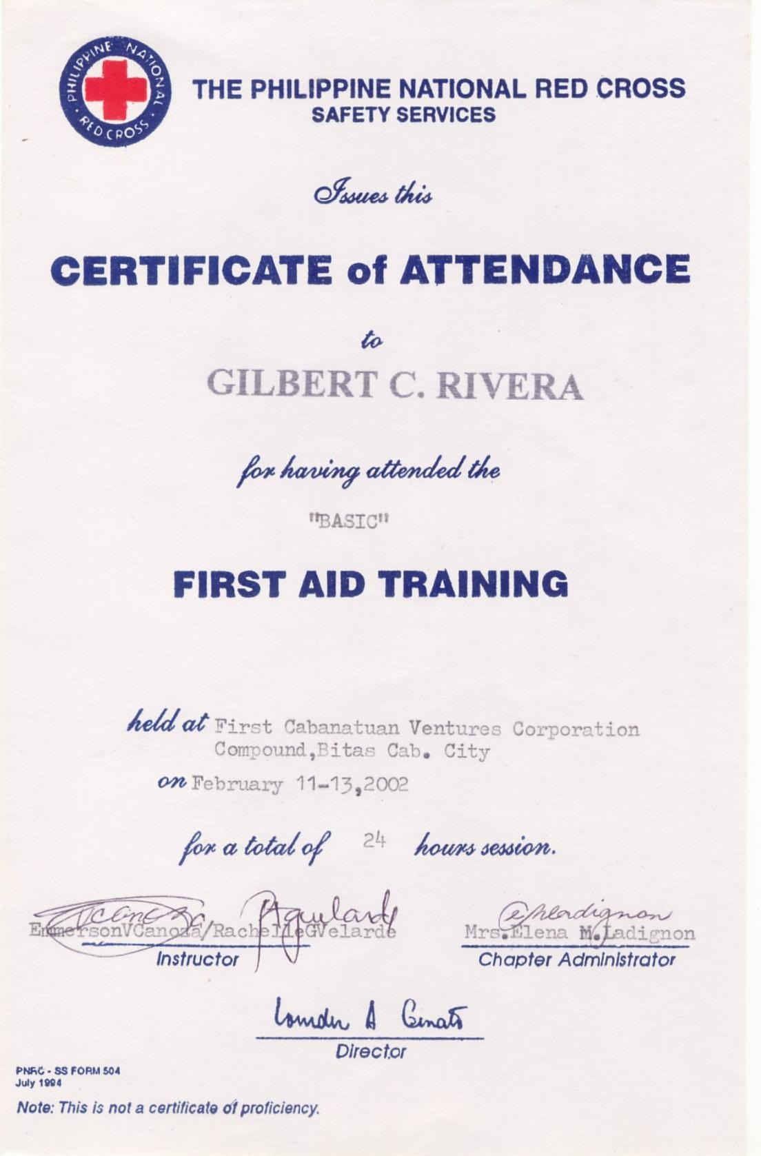 Red cross first aid certification philippines gilbert rivera 1betcityfo Image collections