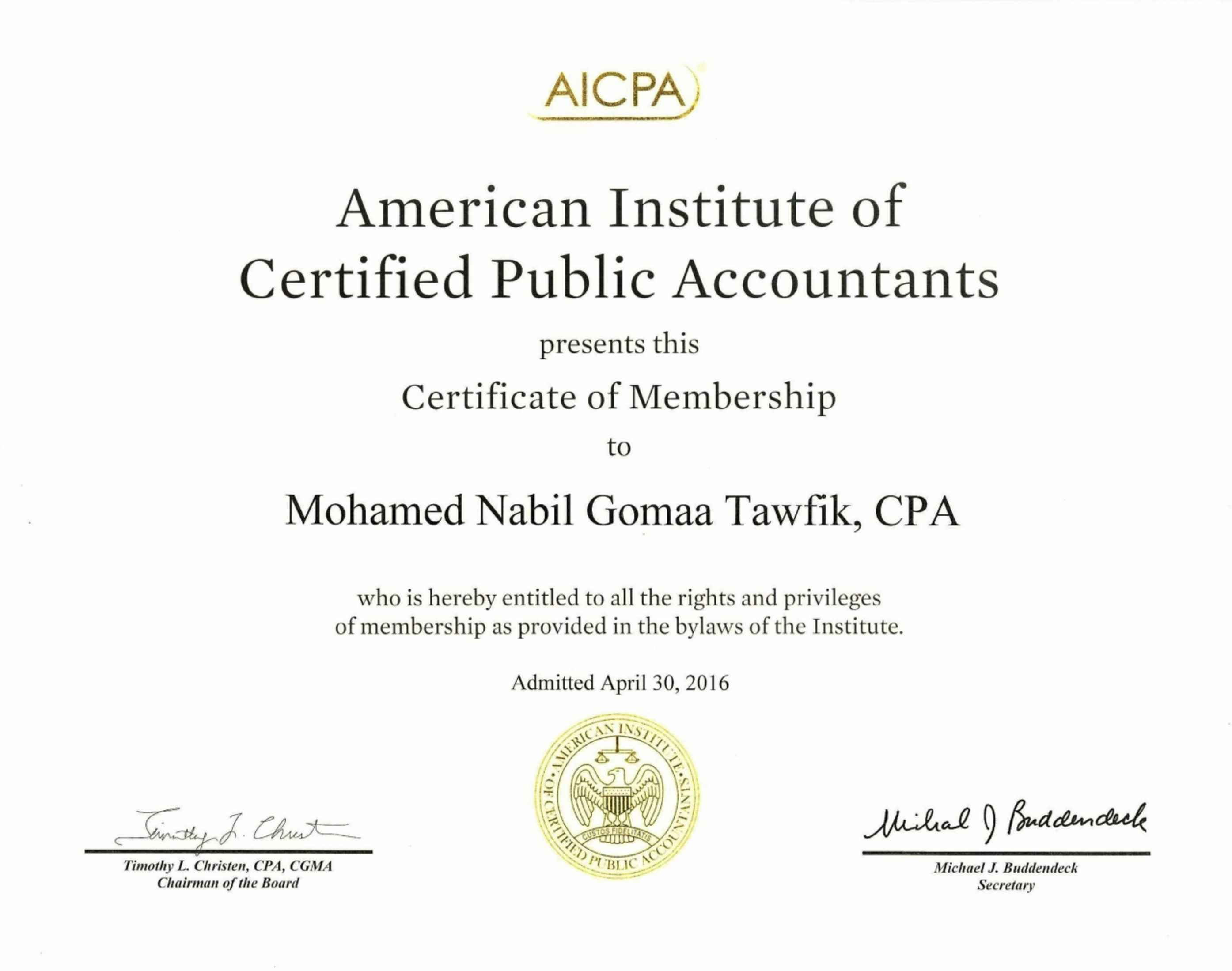 Mohamed tawfik cpa cma ctp csca cfa candidate bayt cpa certified public accountant american institute of certified public accountants aicpa usa diplme 1betcityfo Choice Image