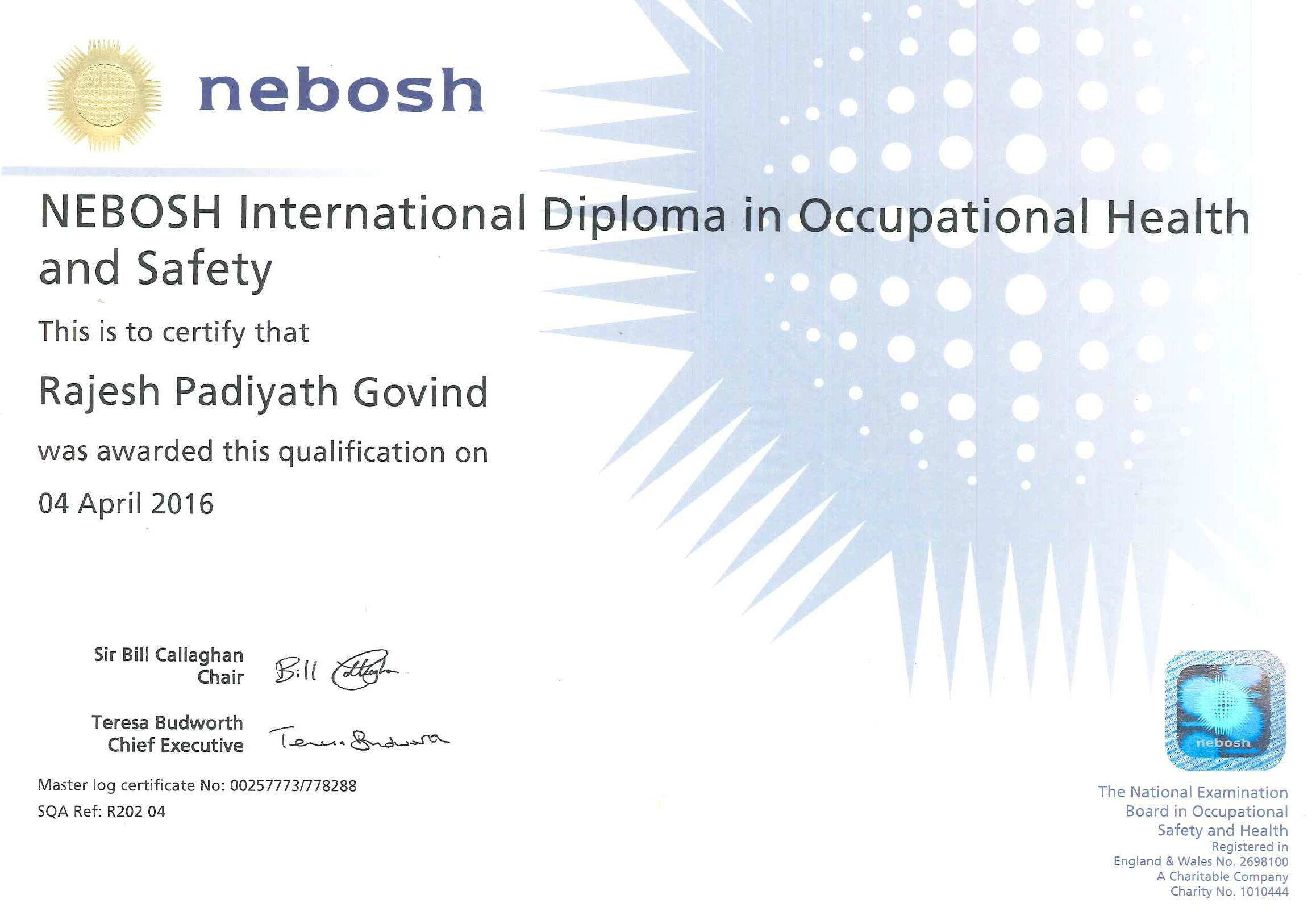 nebosh idip unit b International diploma unit a january 2018  international diploma unit b  january 2018  the new format examiners' reports are available for the  diploma.