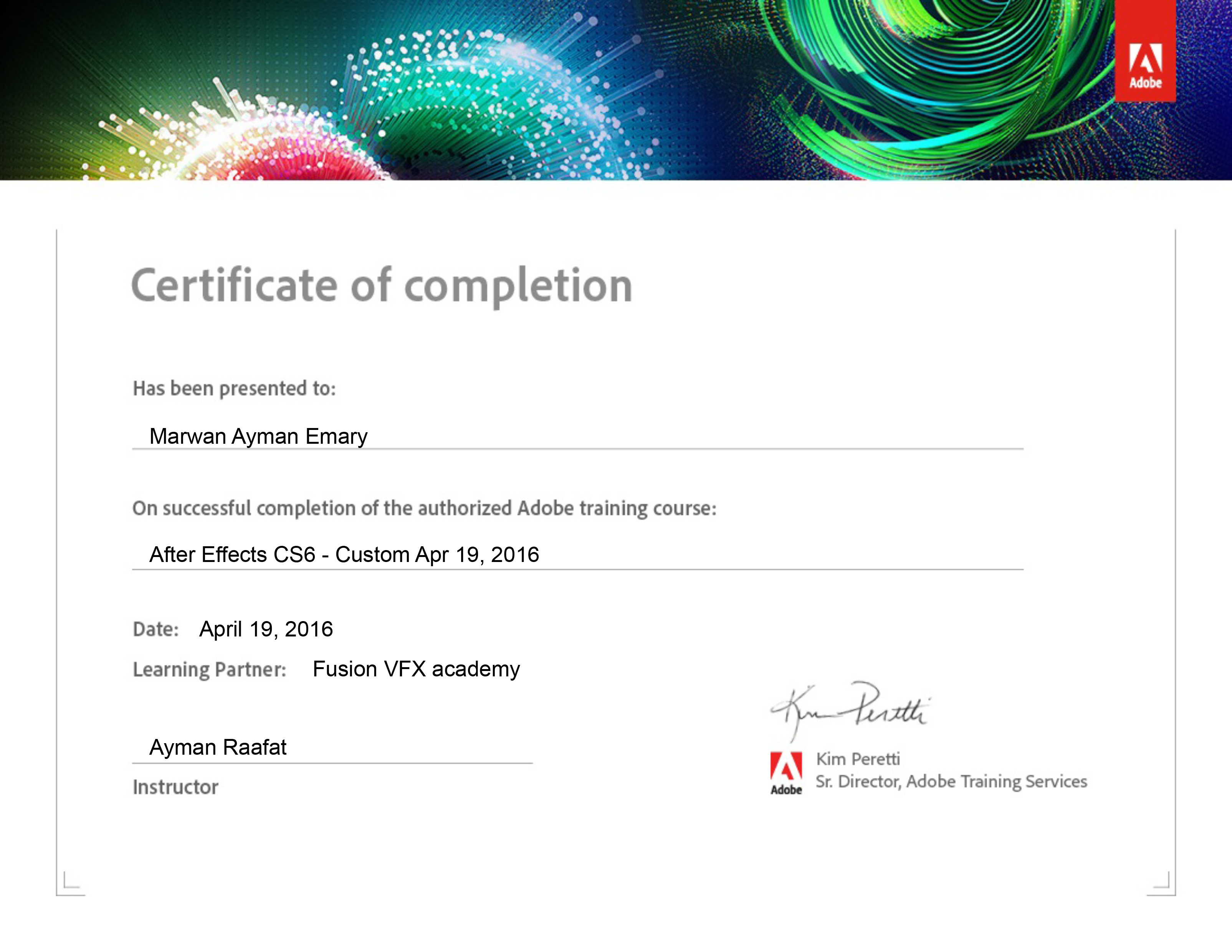 Marwan ayman emary bayt adobe after effects certificate of completion certificate 1betcityfo Gallery