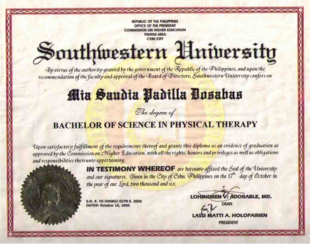 Degree in physical therapy - Bachelor S Degree General Physical Rehabilitation