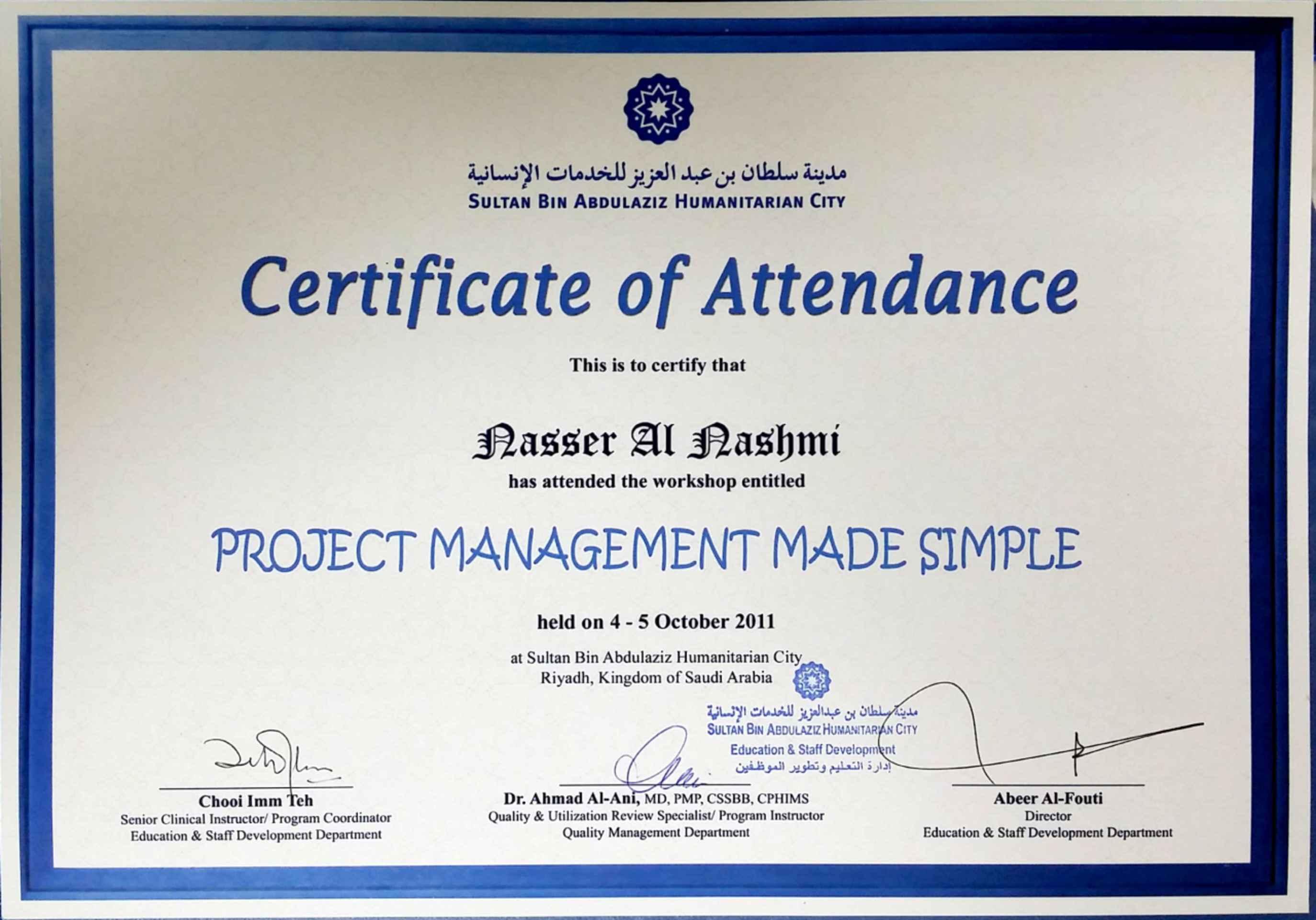 Nasser al nashmi bayt project management certificate 1betcityfo Gallery