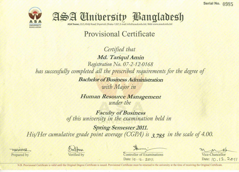 Human Resource Management Graduate Certificate Best Design