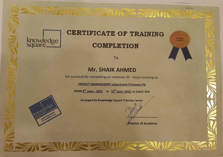Shaik ahmed pmp lssgb bayt training institute knowledge square xflitez Choice Image