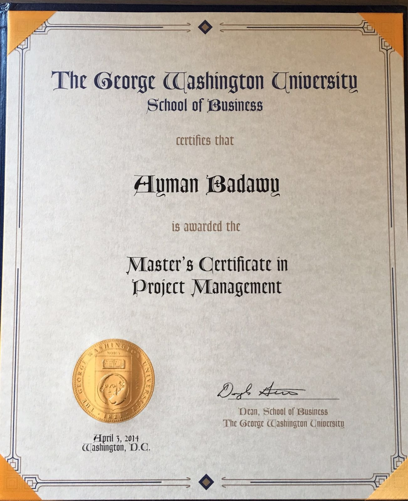 Ayman badawy bayt masters certificate in project management certificate 1betcityfo Images