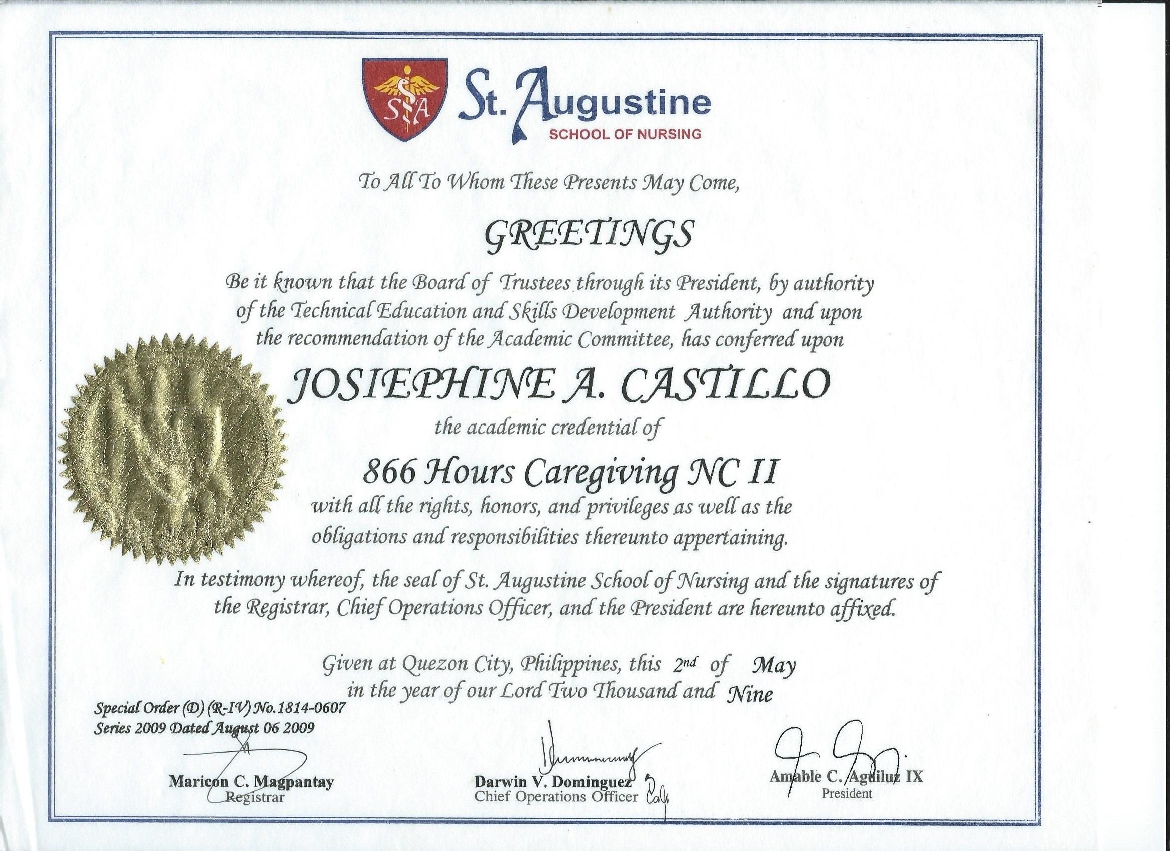 Josephine castillo bayt education 1betcityfo Choice Image
