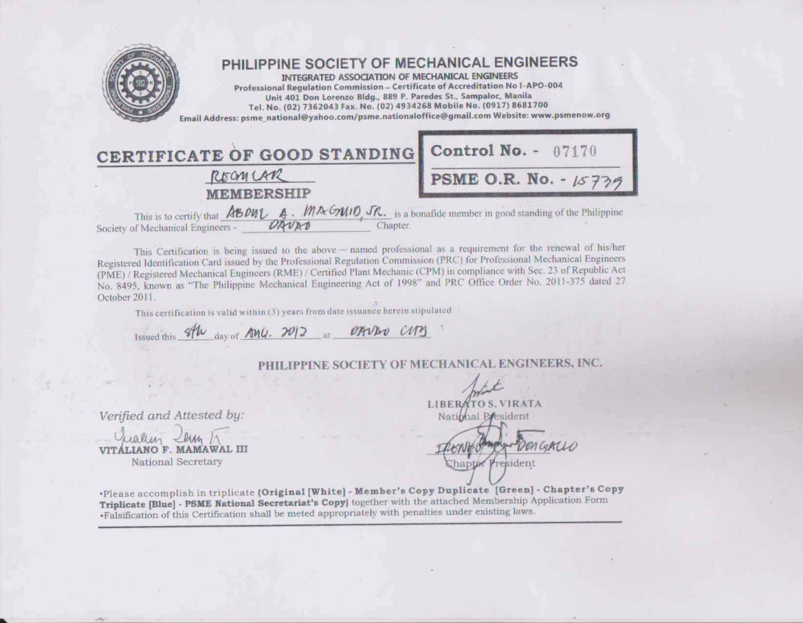 Mechanical Engineer Certification Towerdlugopisyreklamowe