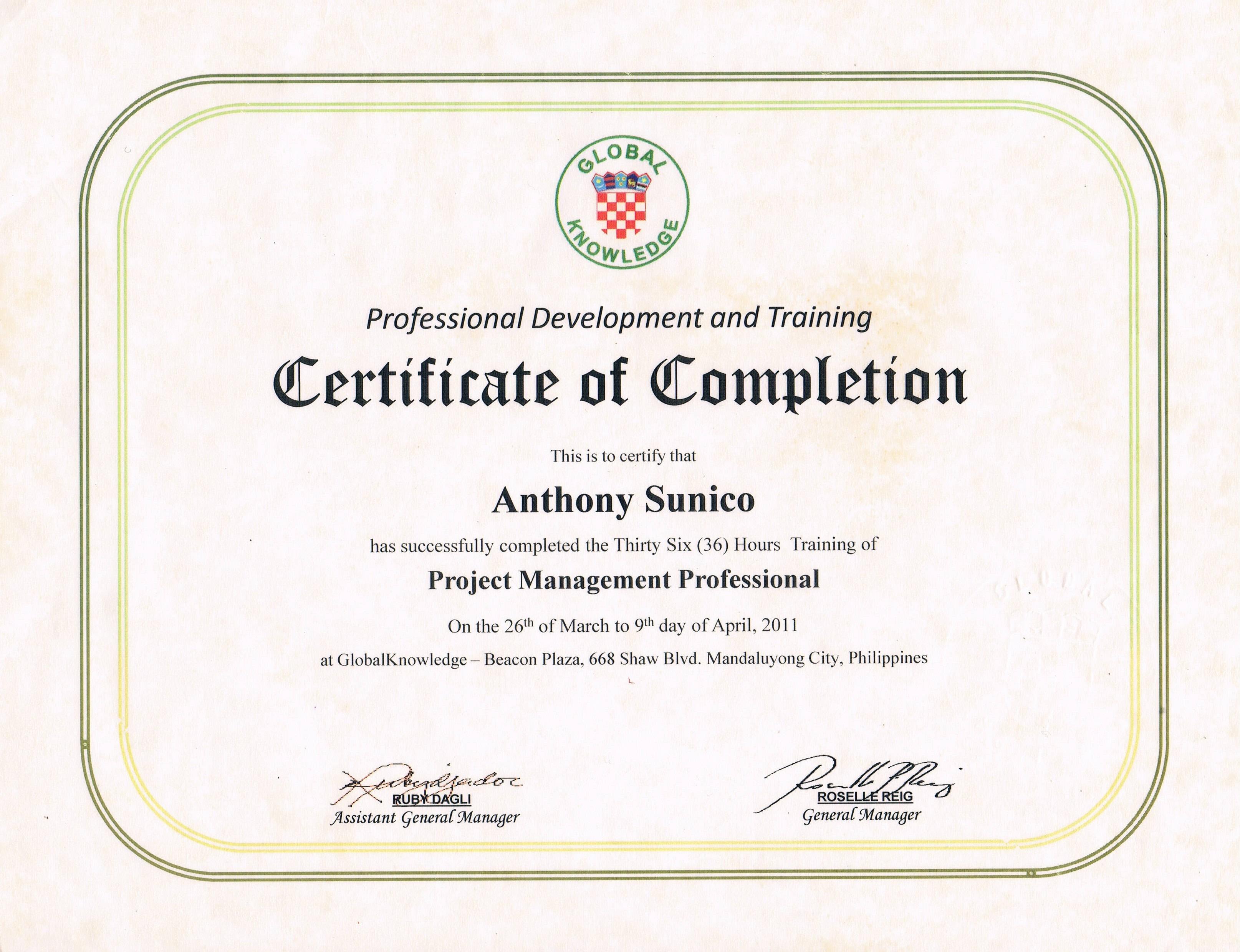 Anthony sunico bayt project management institutes pmi project management professional pmp 1betcityfo Images