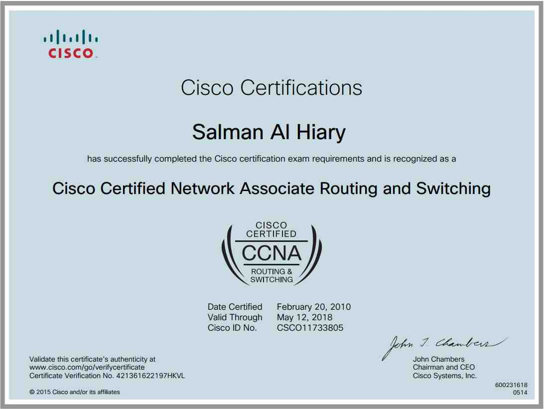 Salman al hiary bayt ccna routing and switching certificate 1betcityfo Choice Image
