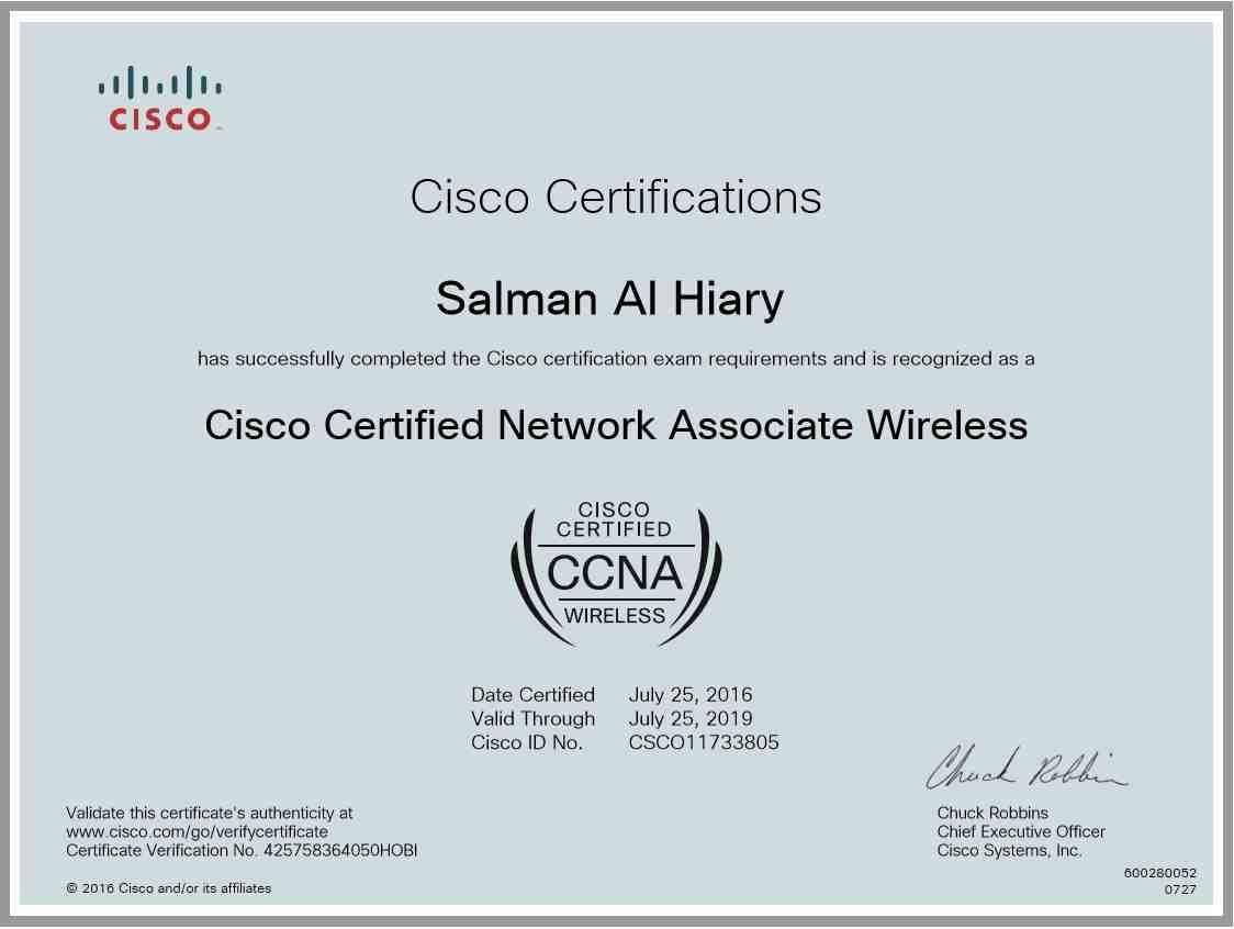 Salman al hiary bayt ccna wireless certificate 1betcityfo Choice Image