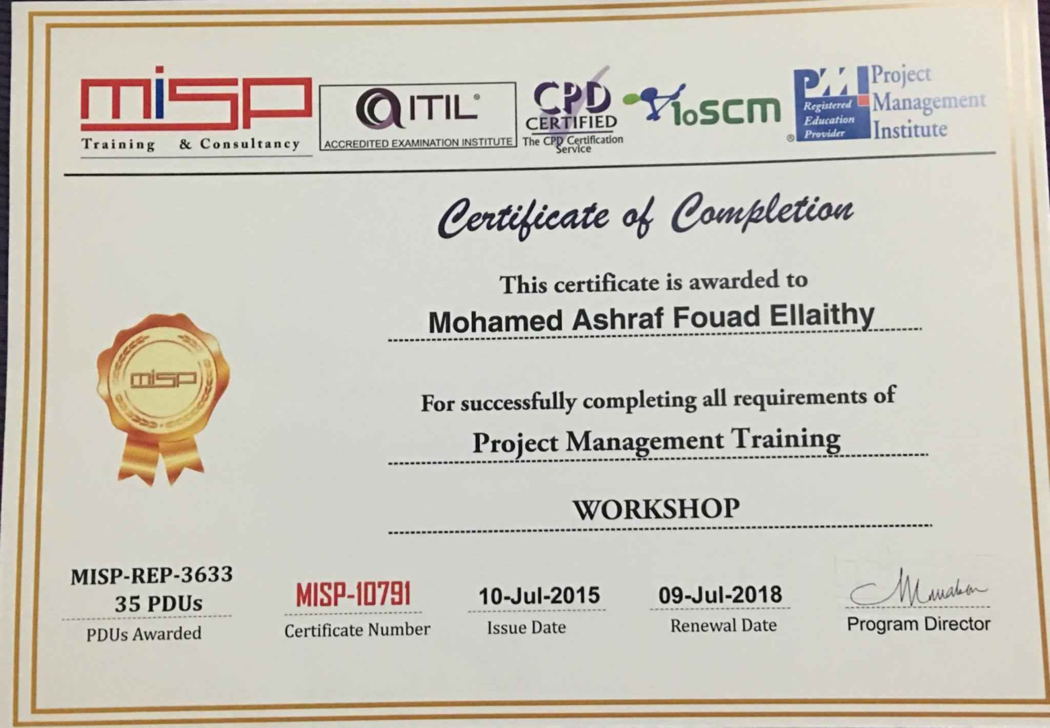 Mohamed ashraf bsccem aciarb pmp bayt training institute misp consultant 1betcityfo Images
