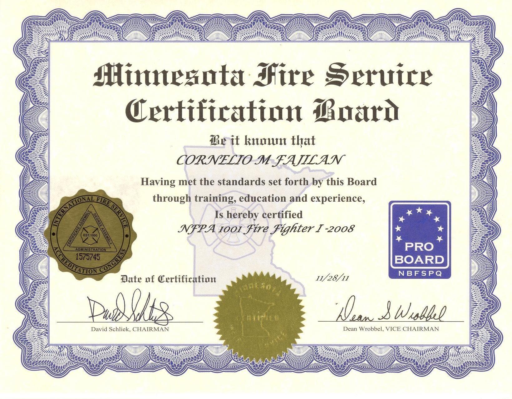Cornelio fajilan bayt proboard firefighter 1 certificate 1betcityfo Gallery