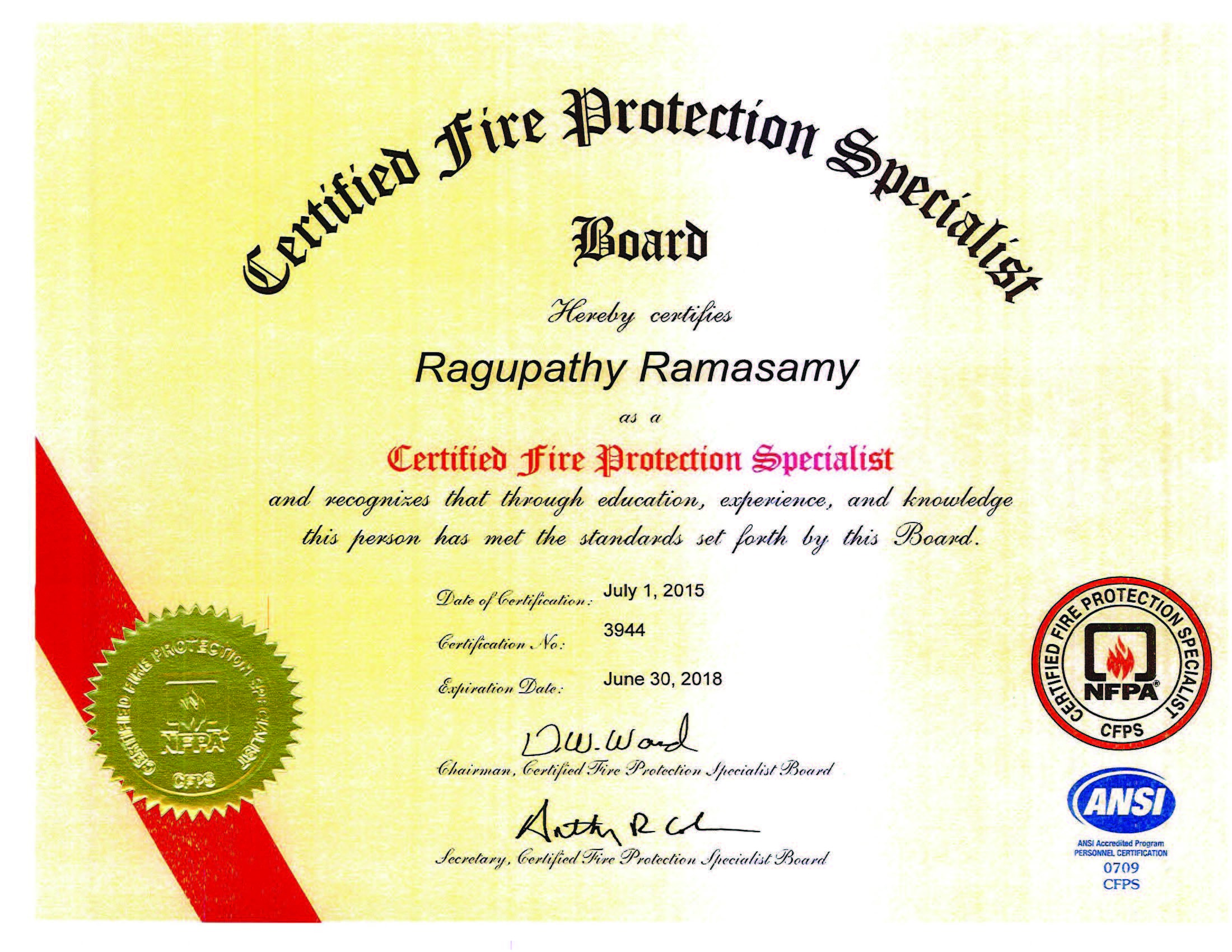 Ragupathy ramasamy cfps pmp bayt certified fire protection specialist cfps nfpa certificate xflitez Image collections